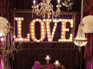 diy wood metal marquee letters With marquee letters wedding
