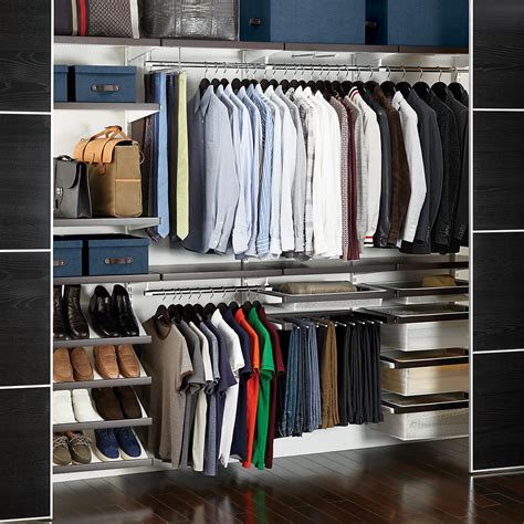 In Closet by Walnut White Elfa D 233 Cor Reach In Closet The Container