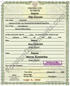 translation  russian  birth certificate