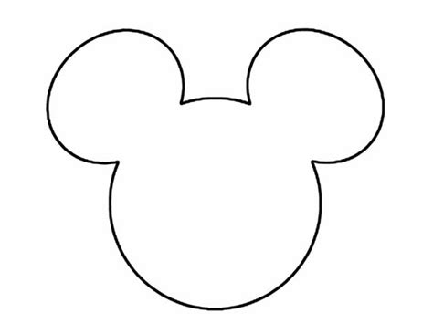 Mickey Mouse Shape Template by Frugal But Fabulous Family Disney Vacations
