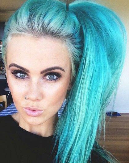 Ultimate Teal Ombre Hair Color Hair Hair Dyed Hair