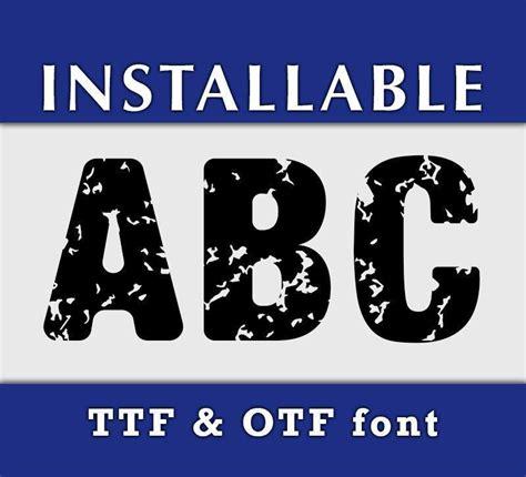 distressed grunge true type font  cricut  silhouette crafts kyo digital studio