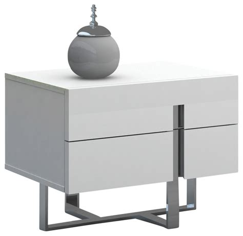Contemporary White Nightstands by Collins Nightstand Modern Nightstands And Bedside