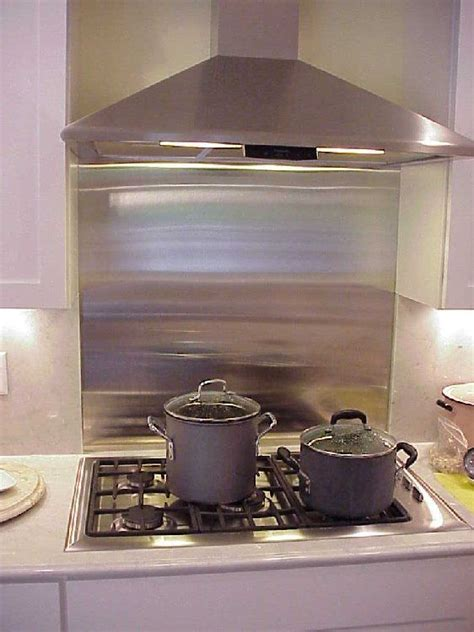 Kitchen Backsplash Panel by Stainless Cooktop With Around It
