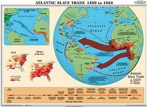 Atlantic Slave Trade World History Map