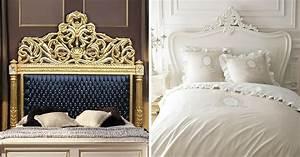 Tete De Lit Bois Sculpté : 7 t tes de lit baroque pour votre chambre ~ Teatrodelosmanantiales.com Idées de Décoration
