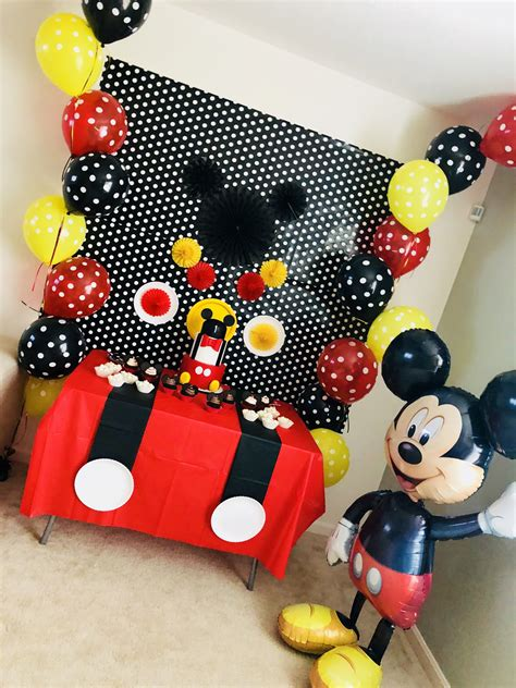 Mickey Mouse Decorations by Mickey Birthday Decoration Cumple Ideas In 2019 Mickey