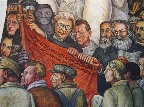 Diego Rivera Rockefeller Center Mural Controversy by Detail Of Diego Rivera Mural Trotsky Karl Marx