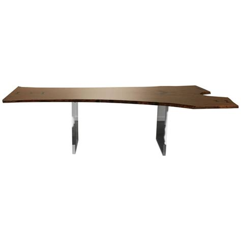 floating desk for sale live edge dining table or desk floating with lucite legs