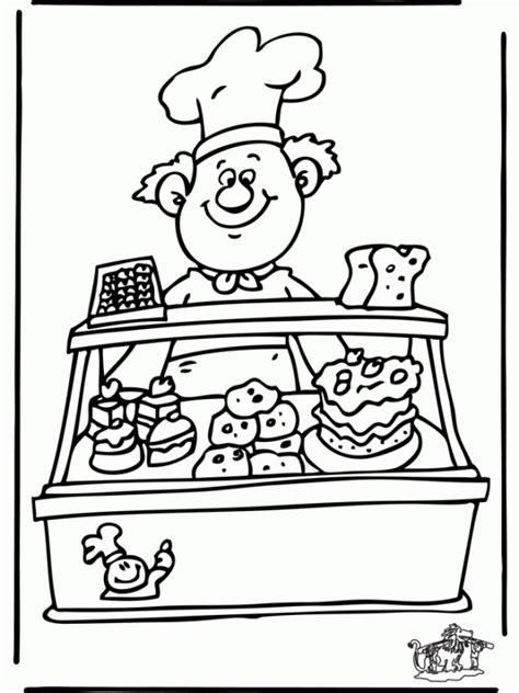 dibujos de panaderias  imprimir  colorear colorear