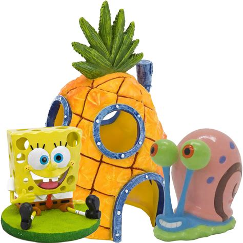 spongebob home aquarium ornament set healthypets