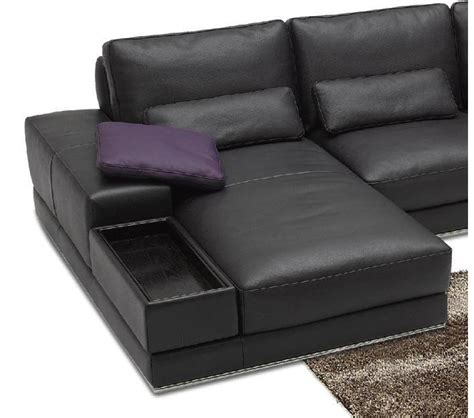 contemporary italian leather sectional sofas dreamfurniture com 942 contemporary italian leather