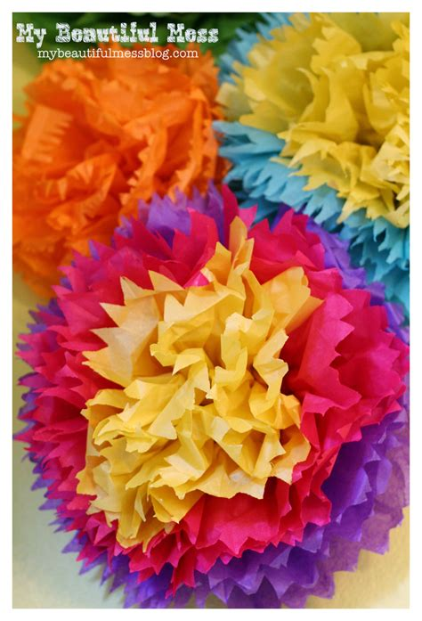 How To Make Mexican Tissue Paper Flowers Tutorial
