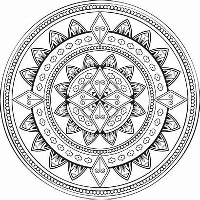 Mandala Transparent Background Ornamental Clipart Clip Coloring