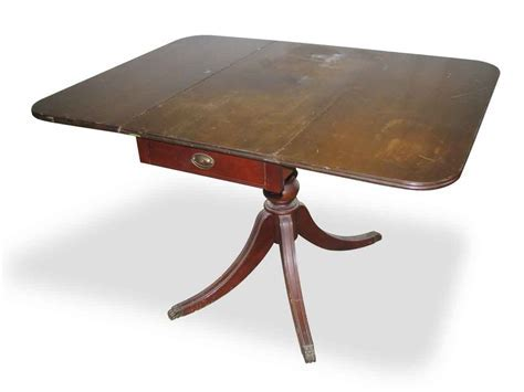 Drop Leaf Duncan Phyfe Table with One Center Drawer   Olde