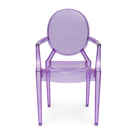 chaise louis ghost style purple louis ghost armchair cult uk