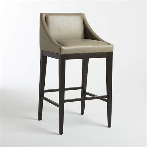 curved leather bar counter stool elephant west elm