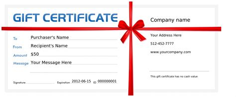 Make Your Own Gift Certificate Template Free by Make Your Own Gift Certificate Template Free Images