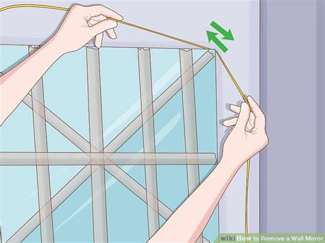 How To Remove A Bathroom Mirror Glued To The Wall by 2 Easy Ways To Remove A Wall Mirror With Pictures