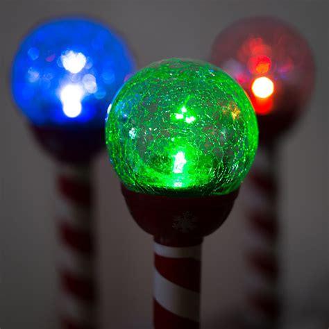 6 pack led color changing christmas crackle solar