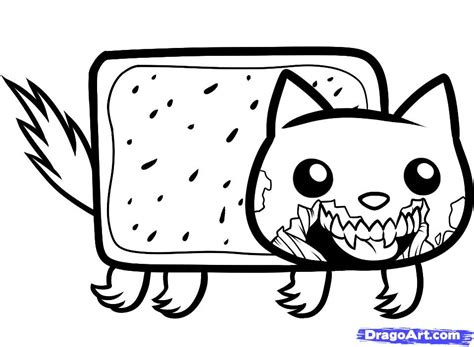 HD wallpapers nyan cat coloring page dandroid3d3ddesktopgq