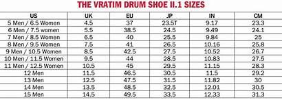 Shoe Sizes Vratim Chart Drum