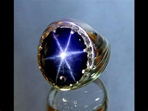 batu akik american blue sapphire 18 50 carats silver 925 ring