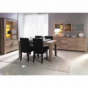 Salle a manger complete couleur chene clair contemporaine for Meuble salle À manger avec chaise chene clair salle a manger