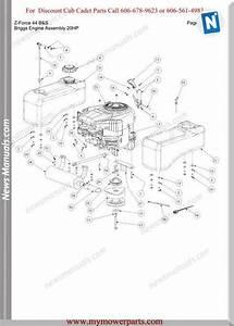 Cub Cadet Parts Manual For Model Z Force 44 Bands