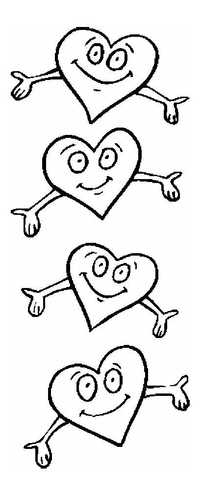 Hug Heart Hearts Coloring Pages