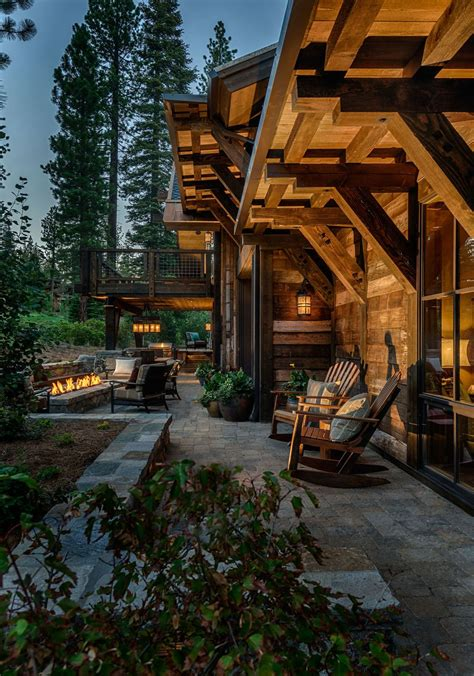 mountain cabin overflowing  rustic character  handcrafted beauty