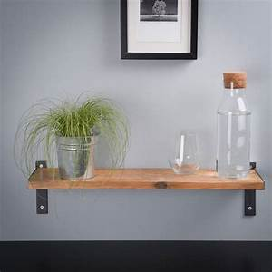 Reclaimed, Wood, And, Steel, Industrial, Style, Shelf, By, Edge, Inspired