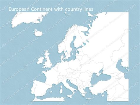 europe continent map editable map  europe continent