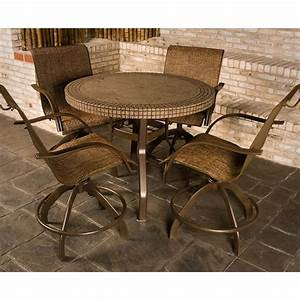 Furniture ideas counter height patio with iron round plus for Counter height patio furniture small