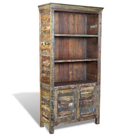 Reclaimed Recycled Timber Wood Bookshelf Study Shelf