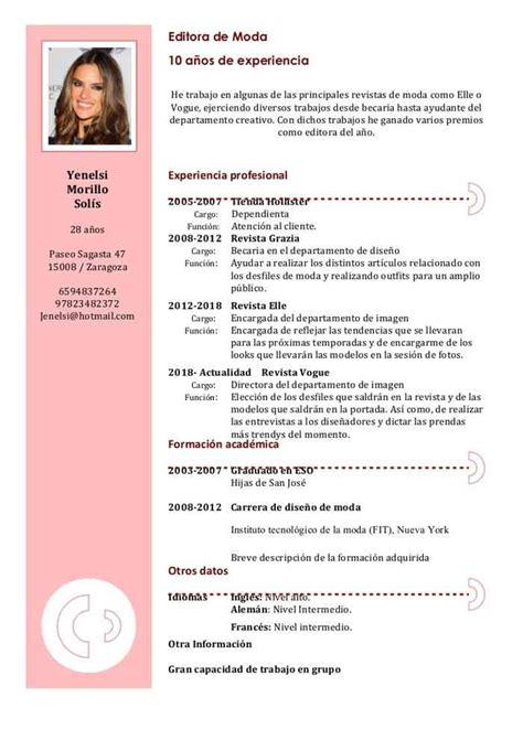 Modelos De Resume by Modelos De Curriculum Vitae Lugares Para Visitar