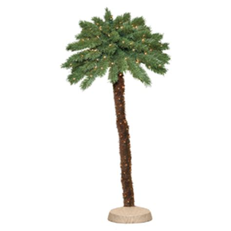 palm tree christmas tree lowes shop 5 ft pre lit palm slim artificial christmas tree with 8597