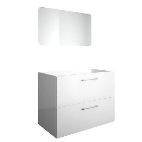 meuble sous vasque 2 tiroirs 80 cm happy blanc blanc n 176 0