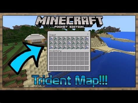 mcpe trident enchantment map youtube