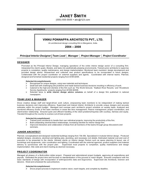 Interior Design Manager Resume by Interior Designer Resume By C Coleman