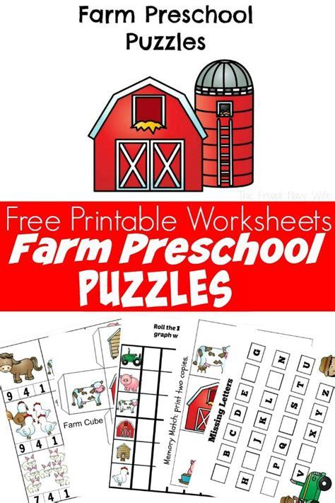 farm animal puzzles free preschool worksheets printable 245 | Farm Animal Puzzles Free Preschool Worksheets Printables 2
