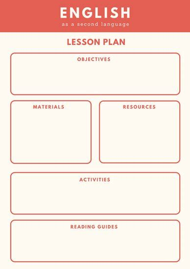 Esol Lesson Plan Template Customize 1 304 Lesson Plan Templates Canva