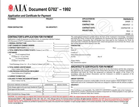 application  certificate  payment aia