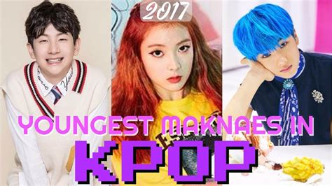top  youngest maknaes  kpop  youtube