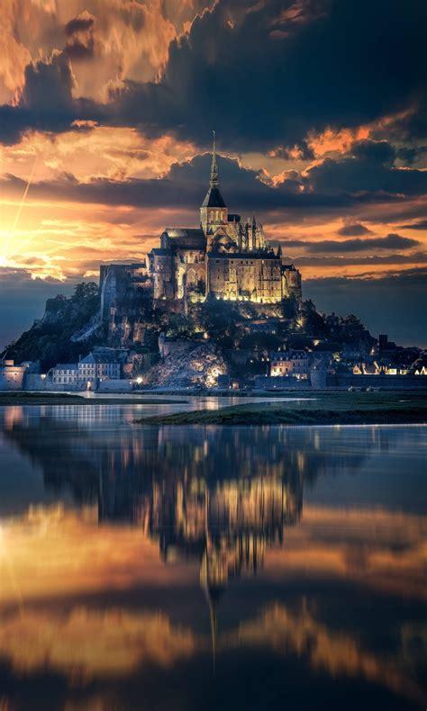 mont saint michel island castle  wallpapers hd