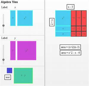 kenny and karen With algebra tiles template