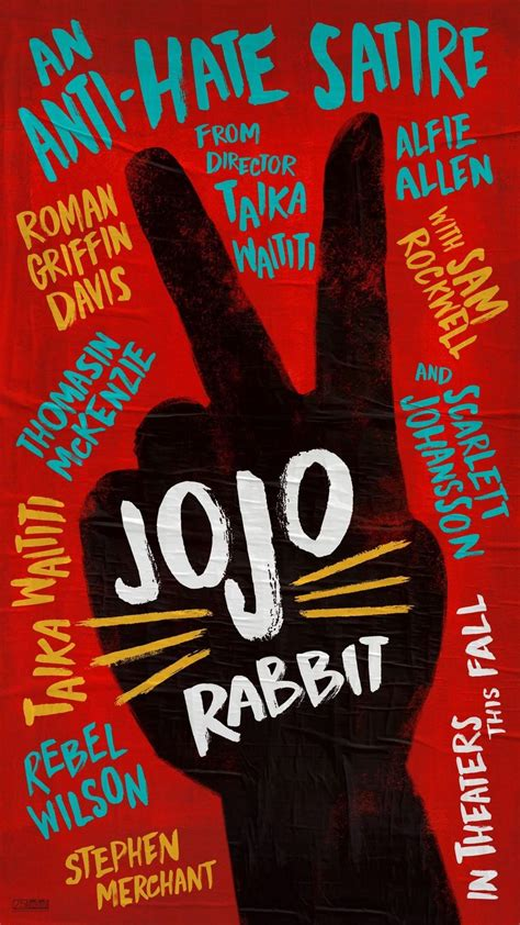 jojo rabbit poster  trailer del film satirico  taika