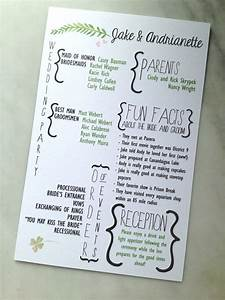 creative wedding programs and what to include mywedding With order funny wedding invitations online