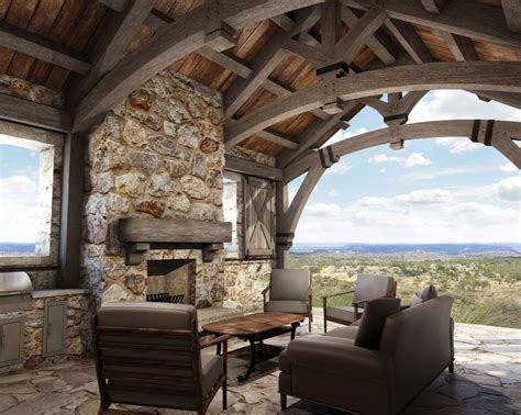 hill country ranch  sq ft colorado timberframe