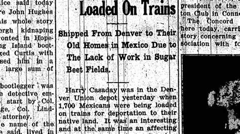 repatriation  deportation  mexicans   boulder county latino history